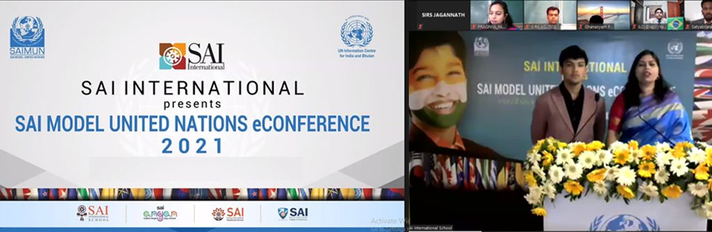 SAI Model United Nations eConference 2021 | private boarding high schools - SIRS